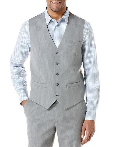 PERRY ELLISSlim Fit Heather Stripe Suit Vest