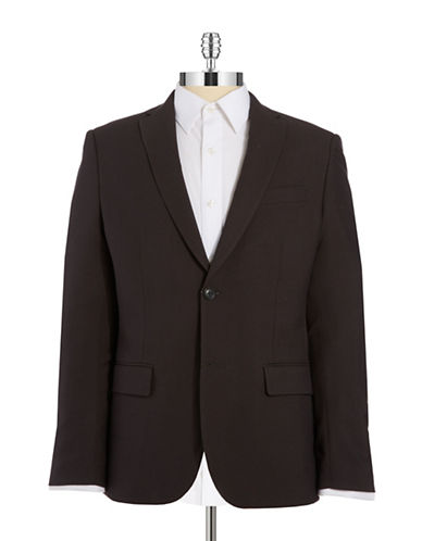 PERRY ELLIS Slim Fit Two Button Blazer