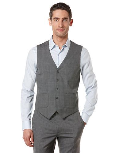 PERRY ELLISModern Fit Small Windowpane Vest