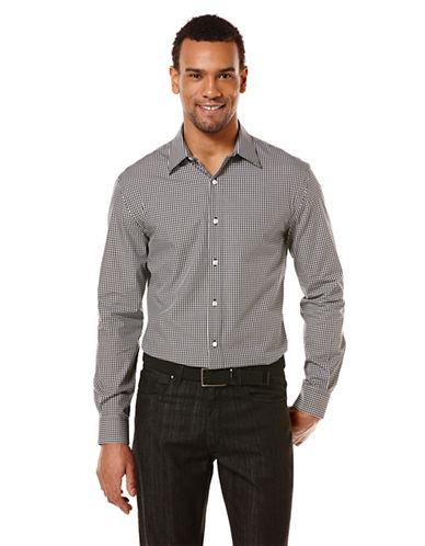PERRY ELLISModern Fit Mini Check Sport Shirt
