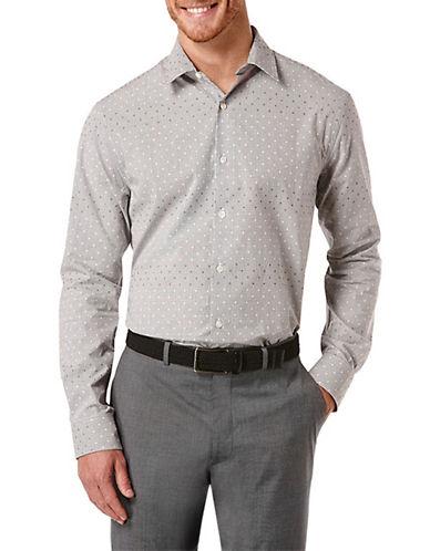 PERRY ELLISRegular Fit Dobby Grid Sport Shirt