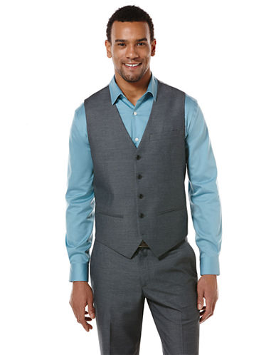 PERRY ELLISRegular Fit Check Vest
