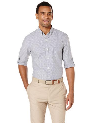PERRY ELLISDobby Stripe Slim Fit Sport Shirt
