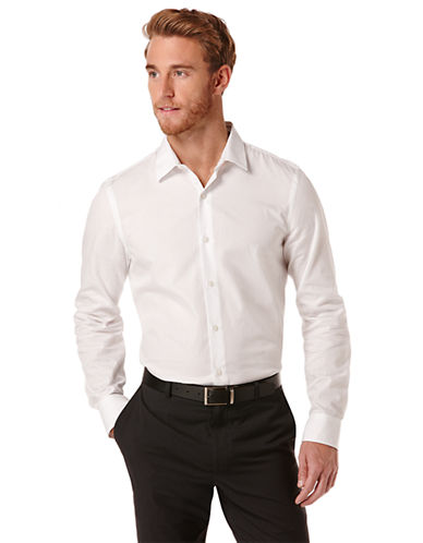 PERRY ELLISSlim Fit Mini Diamond Sport Shirt