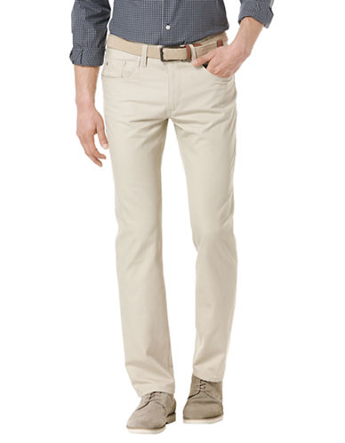 PERRY ELLISPiece Dyed Flat Front Pants