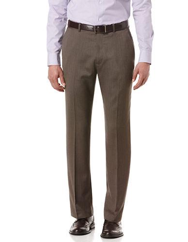 PERRY ELLISDobby Twill Textured Stripe Suit Pants