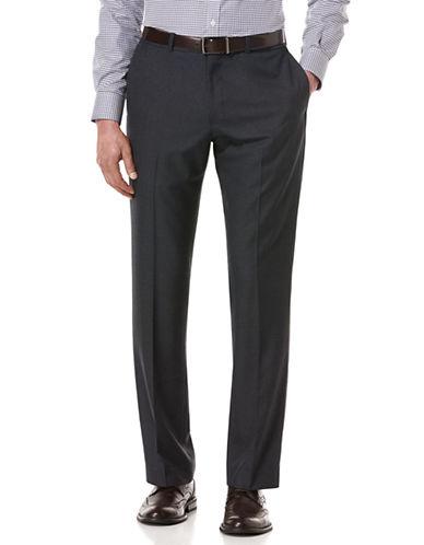 PERRY ELLISTonal Textured Flat Front Pants