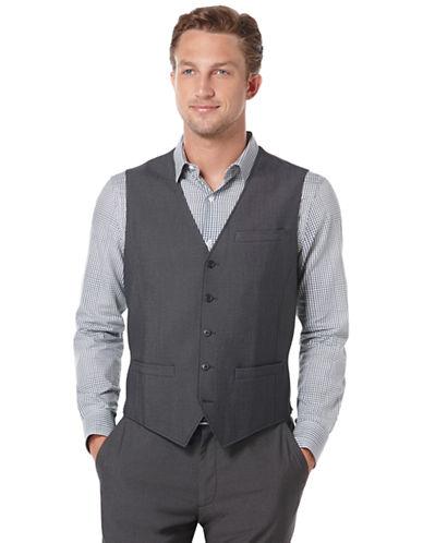 PERRY ELLISModern Fit Tonal Textured Suit Vest