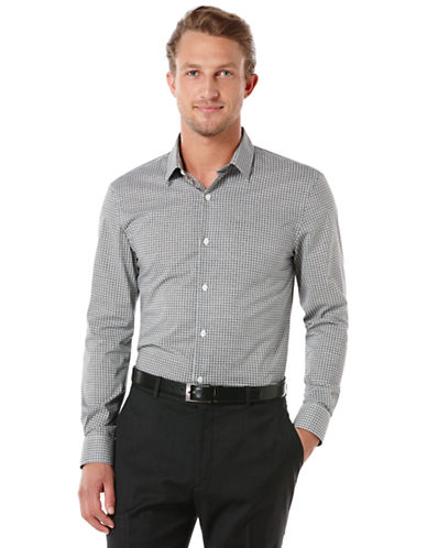 PERRY ELLISBig and Tall Mini Graphic Ribbon Check Sport Shirt