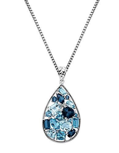 LORD & TAYLORSterling Silver Multi-Blue Topaz Pendant