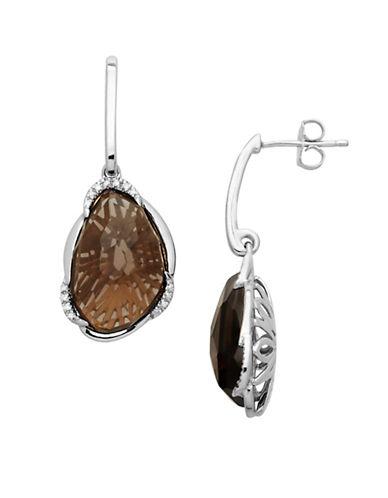 LORD & TAYLORSterling Silver Smokey Topaz Drop Earrings