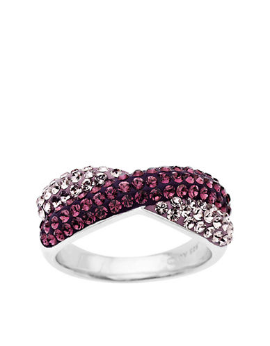 LORD & TAYLOR Sterling Silver Amethyst Colored Crystal Ring