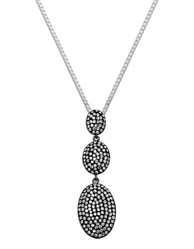 LORD & TAYLORSterling Silver Necklace with Black Rhodium Crystal Pendant