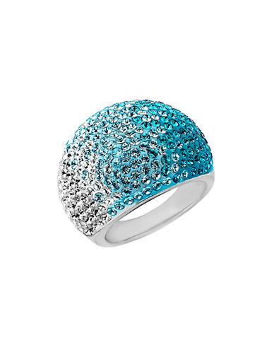 LORD & TAYLOR Sterling Silver Faded Blue Crystal Ring