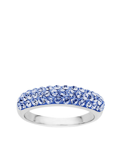 LORD & TAYLOR Sterling Silver Blue Crystal Ring