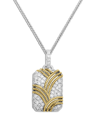 LORD & TAYLORSterling Silver Necklace with 14Kt. Yellow Gold Diamond Pendant