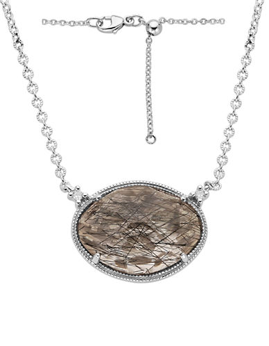 LORD & TAYLORSterling Silver Rutilated Quartz and Diamond Necklace