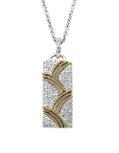 LORD & TAYLORSterling Silver with 14Kt. Yellow Gold Diamond Pendant Necklace