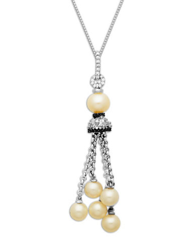 LORD & TAYLORSterling Silver Pearl and Diamond Tassel Pendant