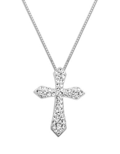 LORD & TAYLORSterling Silver Crystal Cross Necklace