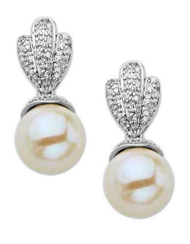 LORD & TAYLORSterling Silver Pearl and Diamond Drop Earrings