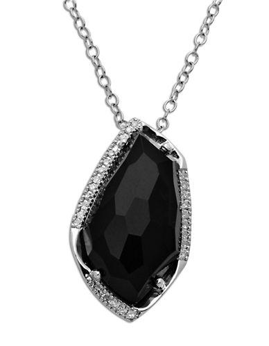 LORD & TAYLORSterling Silver Black Onyx Diamond Pendant Necklace