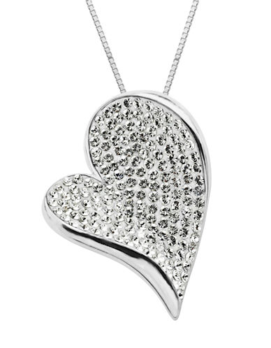 LORD & TAYLORSterling Silver White Crystal Heart Pendant Necklace