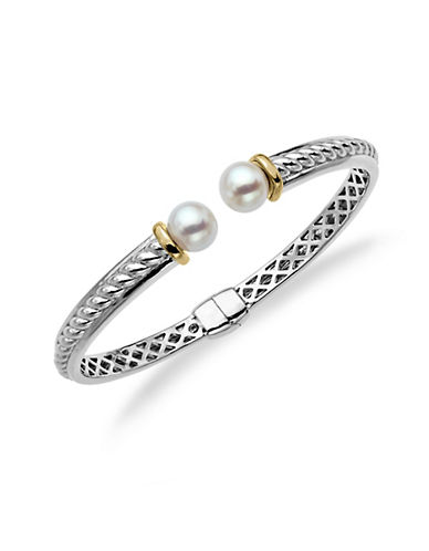 LORD & TAYLORSterling Silver and14Kt. Yellow Gold Freshwater Pearl Bangle Bracelet