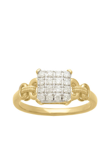 LORD & TAYLOR14Kt . Yellow Gold and Diamond Ring