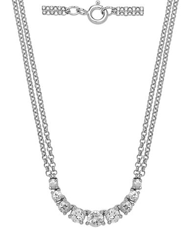 LORD & TAYLOR 14Kt White Gold and Diamond Necklace