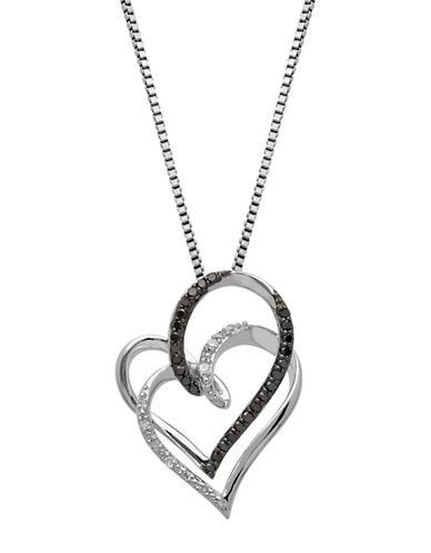 LORD & TAYLORSterling Silver Diamond Two Heart Pendant Necklace