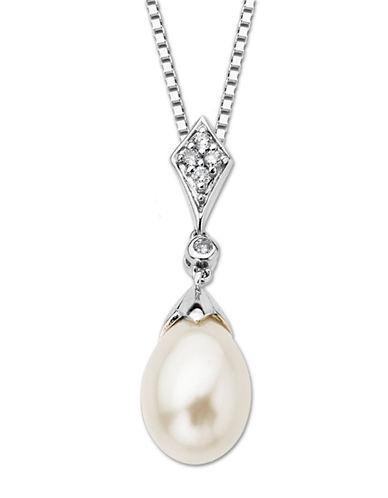 LORD & TAYLORSterling Silver Fresh Water Pearl & Diamond Pendant