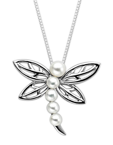 LORD & TAYLORSterling Silver Fresh Water Pearl Dragonfly Pendant