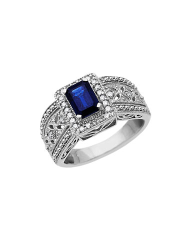 LORD & TAYLORSterling Silver Sapphire and Diamond Ring