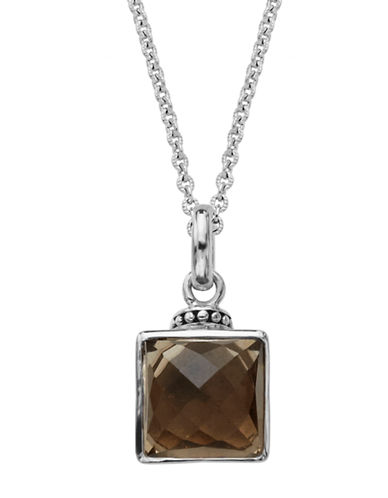 LORD & TAYLORSterling Silver and Smoky Quartz Pendant Necklace