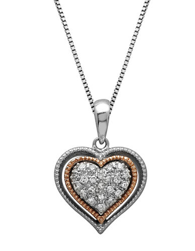LORD & TAYLORSterling Silver and 14Kt. Rose Gold Diamond Heart Pendant Necklace