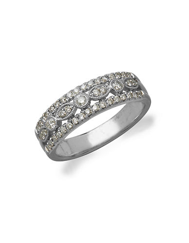 LORD & TAYLOR14Kt. White Gold and Diamond Ring