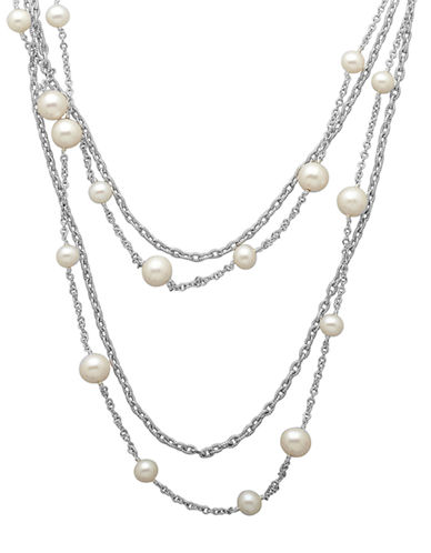 LORD & TAYLOR Sterling Silver and Freshwater Pearl Necklace