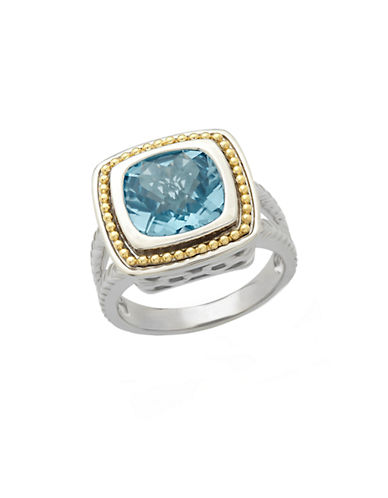 LORD & TAYLORSterling Silver and 14Kt. Yellow Gold Sky Blue Topaz Ring