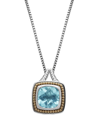 LORD & TAYLORSterling Silver 14Kt. Yellow Gold and Sky Blue Topaz Pendant Necklace