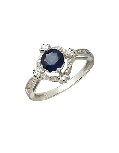 LORD & TAYLOR 14Kt. White Gold Sapphire and Diamond Ring