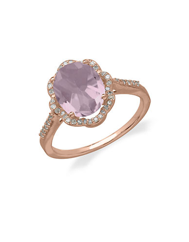 LORD & TAYLOR14Kt. Rose Gold Diamond and Pink Amethyst Ring