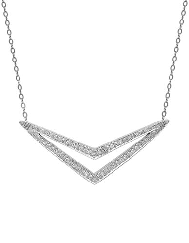 LORD & TAYLOR14 Kt. White Gold and Diamond Pendant Necklace