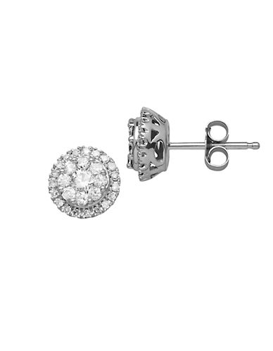 LORD & TAYLOR Diamond And 14K White Gold Stud Earrings, 0.50 TCW