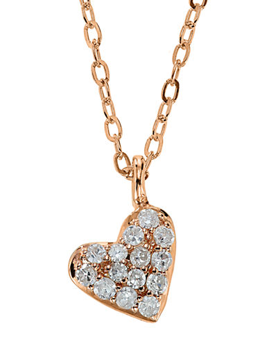 LORD & TAYLOR14Kt. Rose Gold and Diamond Heart Pendant Necklace