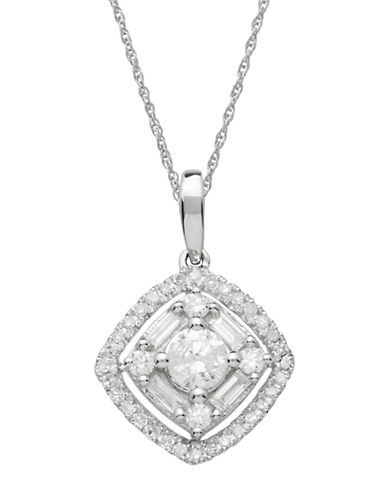 LORD & TAYLOR Diamond And 14K White Gold Pendant Necklace