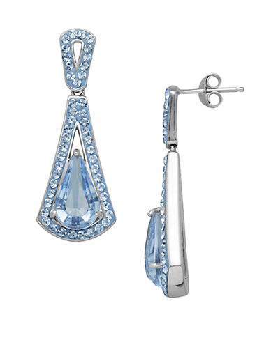 LORD & TAYLORSterling Silver and Crystal Drop Earrings