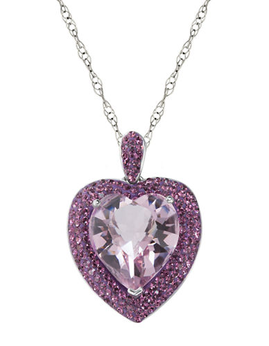 LORD & TAYLORSterling Silver and Crystal Heart Pendant Necklace