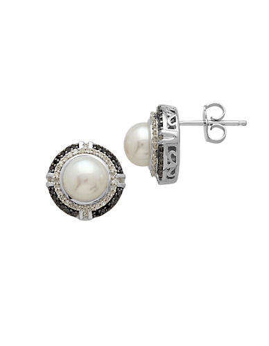 LORD & TAYLORSterling Silver Pearl and Diamond Stud Earrings
