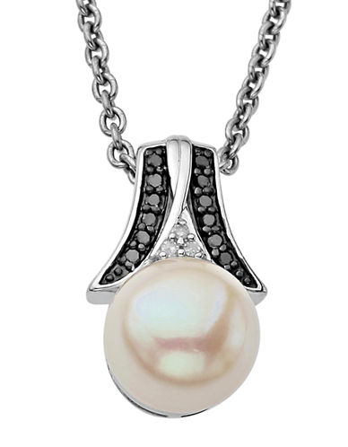 LORD & TAYLORDiamond And Freshwater Pearl Sterling Silver Pendant Necklace
